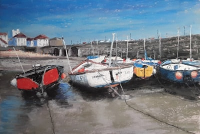 0123 Low Tide Polperro 33 x 47