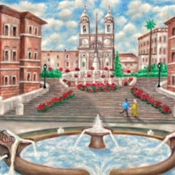 SPANISH STEPS AND FOUNTAIN - ROME
