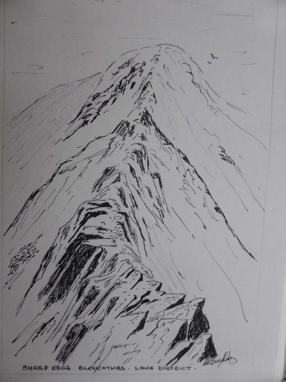 Sharpe Edge Blencathera, pen and ink sketch