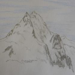 Grosseglockner Austria. pencil sketch