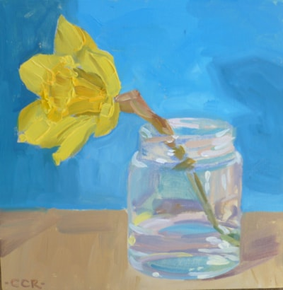 Daffodil in a jar