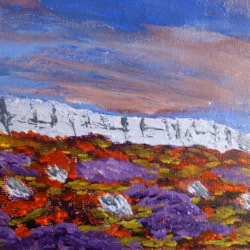 "Stanage Autumn. acrylic on box canvas 5x7"""