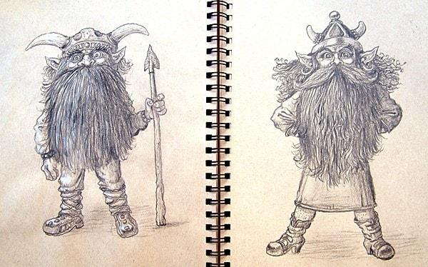 Sketchbook-Mr and Mrs Dwarf.