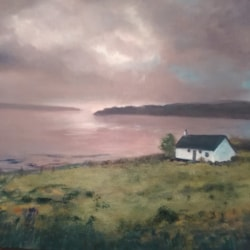 Lochside Cottage in the gloaming