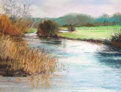 River Stour Sturminster Marshall.