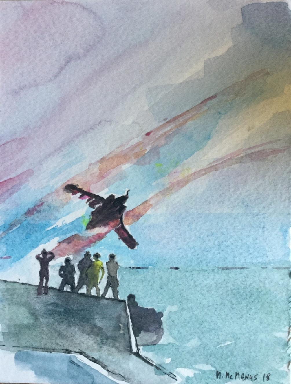 Flightdeck fly-past