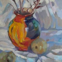 The coloured vase