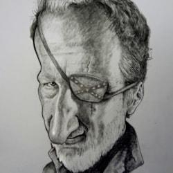 Robert Englund caricature