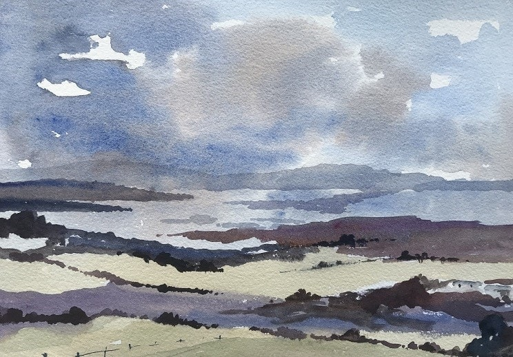 Towards Purbeck (watercolour)
