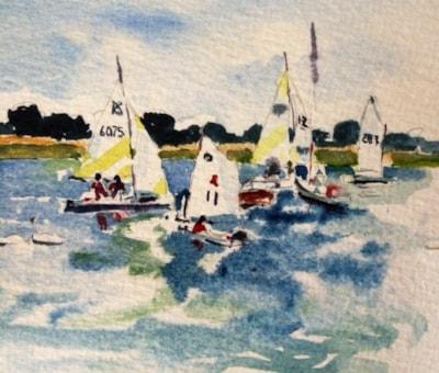 Learning to sail at Bosham