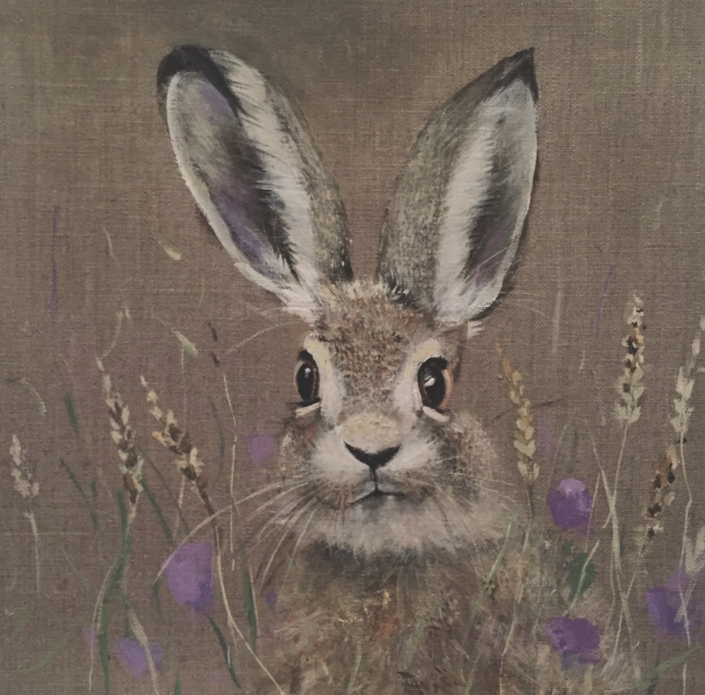 Hare and clover
