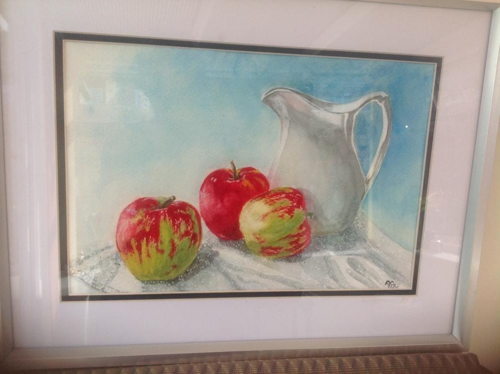 Jug and apples