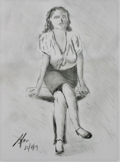 Girl on a table