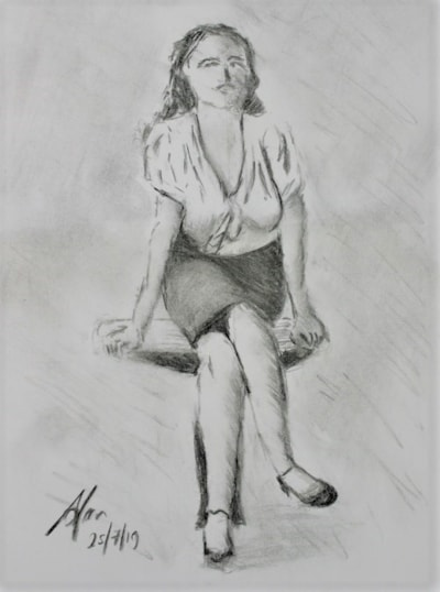Girl on a table