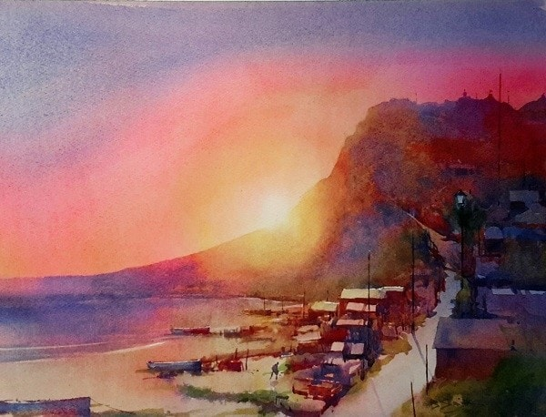 Sunset, Budleigh Salterton