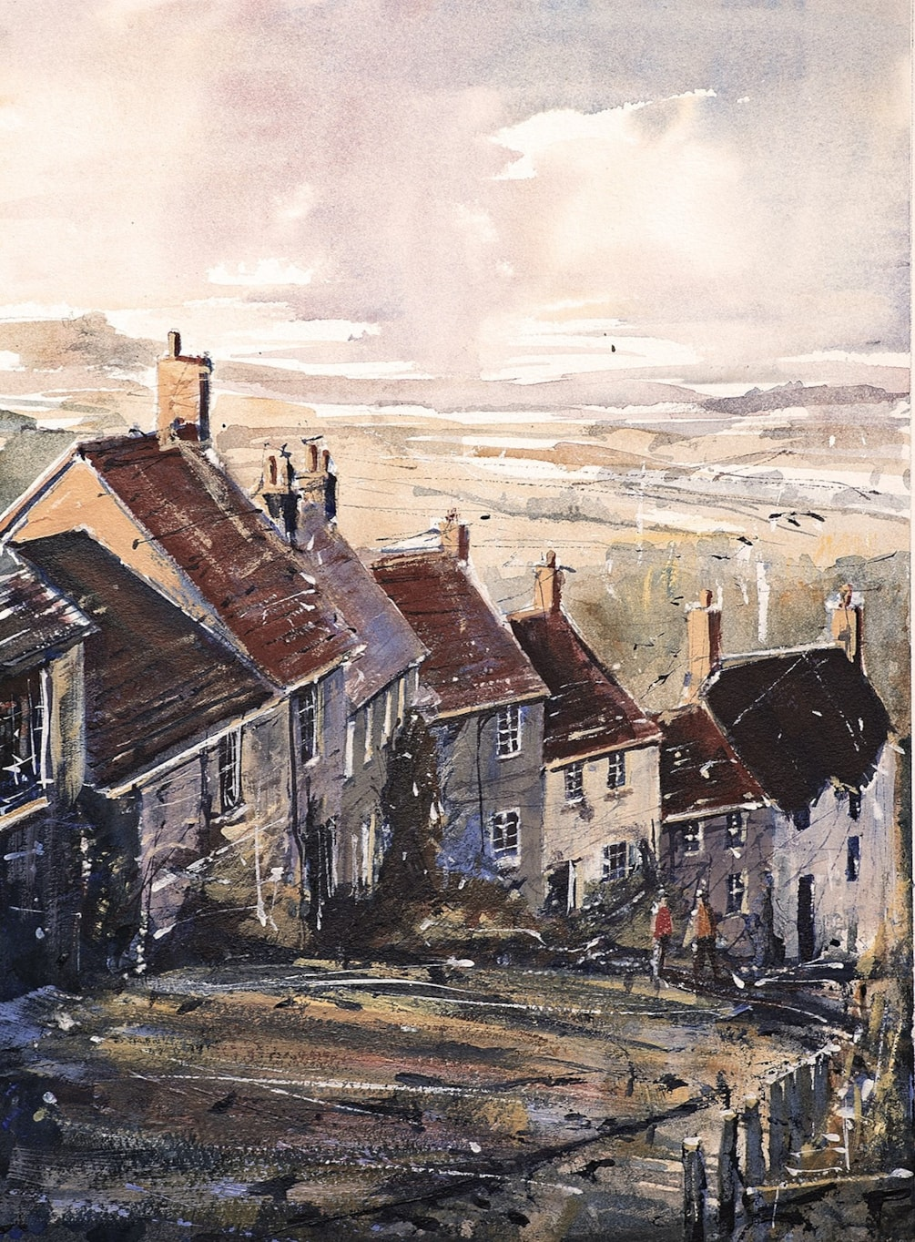Gold Hill, Shaftsbury Dorset 9.5 x 13 inches