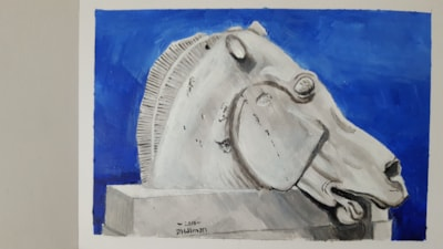 Study of Elgin Marble horse head