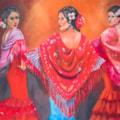 Three Senoritas with shawls