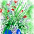 Flowers in  a digital world