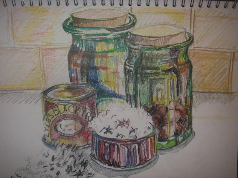 Green Jars sketch