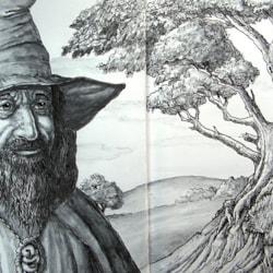 Gandalf- A4 sketchbook.