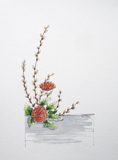 Ikebana in colour