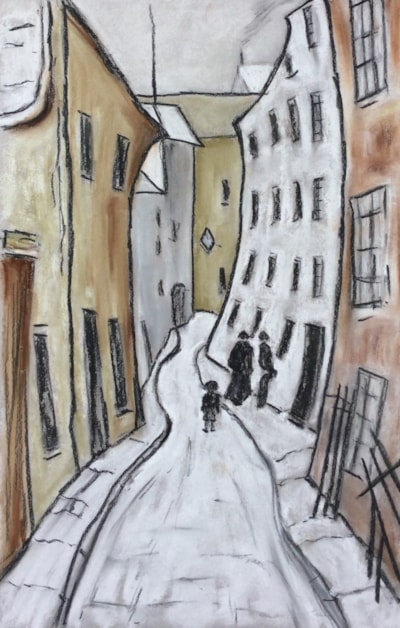 A Sisters Request - after Lowry