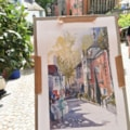 Portmeirion Town Hall plein air