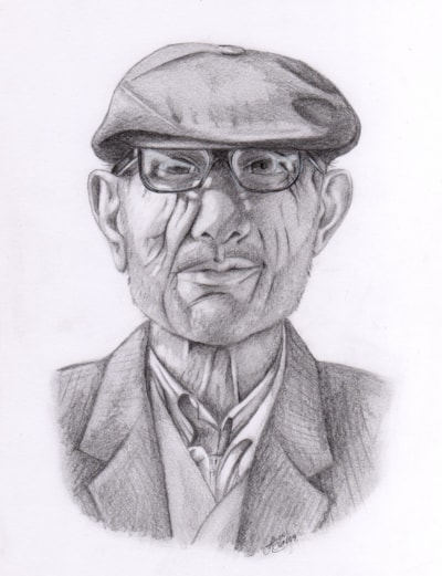 Dede drawn in 2009