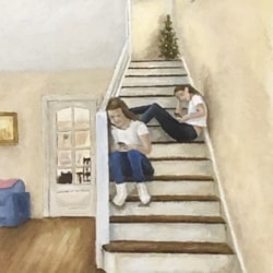 Girls on Stairs