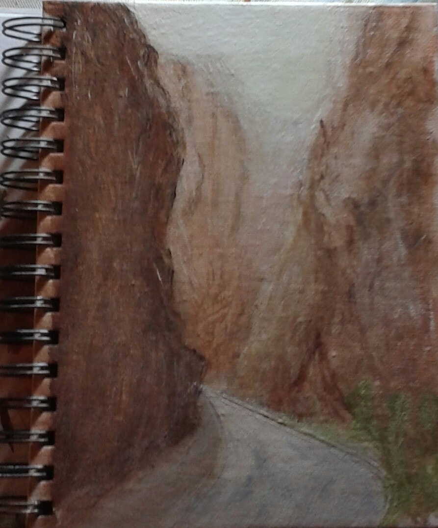 Moroccon gorge a5 sketch pad with canvas binder