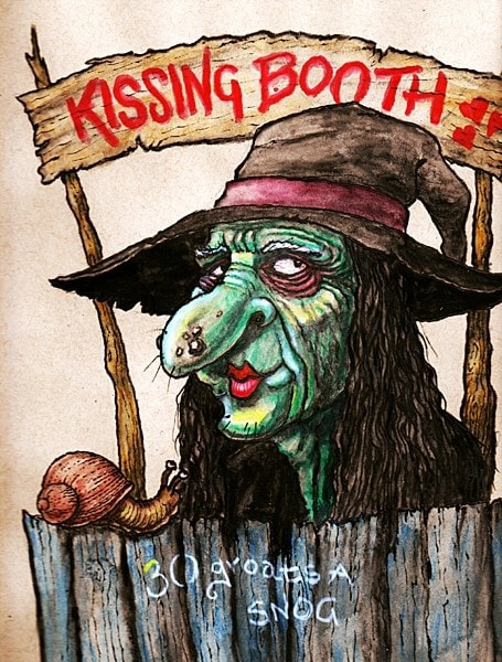 Ideas unlikely to succeed-Halloween kissing booth.