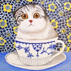 Kitten in a Cup by Anni Morris