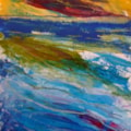 Storm over the sea (semi-abstract)