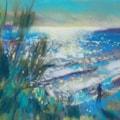 Plein air pastel sketch