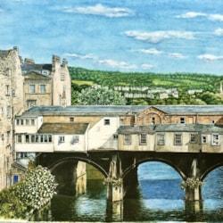 The Back Of Pulteney Bridge