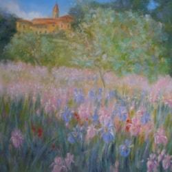 "Pastel, ""Summer Fields, Tuscany"""