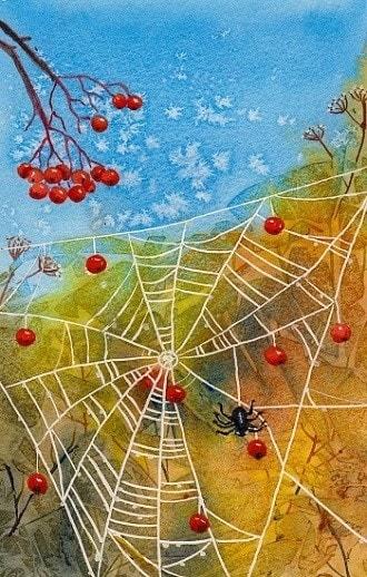 "Christmas card 1  ""Decorating for Xmas"""