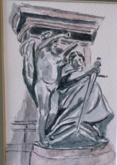 Second Set of figures at base of statue