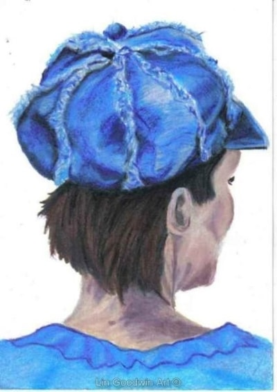 Girl With A Denim Hat