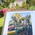 Plas  Brondanw, plein air watercolour