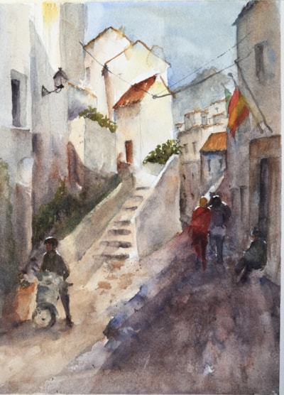 The road down, Casares Andalucia