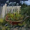 Weeds and wheelbarrow II