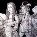 Fantasy sketches- A4 sketchbook.