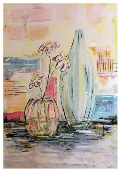 Vase & Flower Bowl