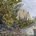 Old Farm Corfu. Pen and wash sketch
