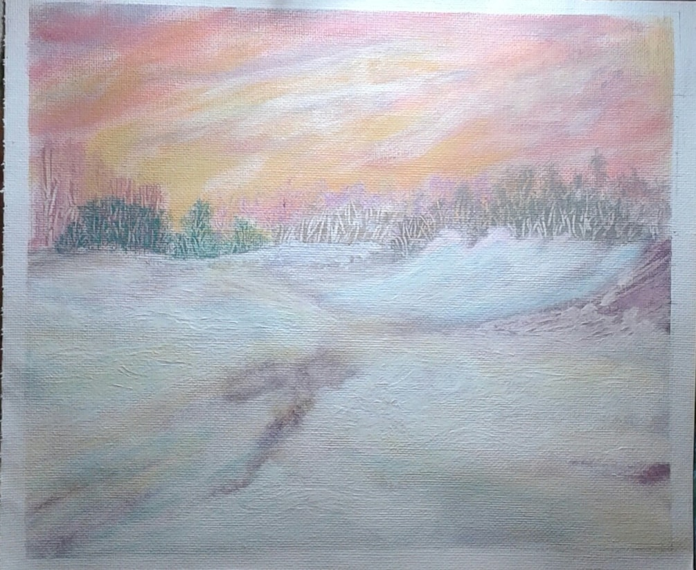 les darlow THE GOLF COURSE. exercise  from Jan issue.. in acrylic instead