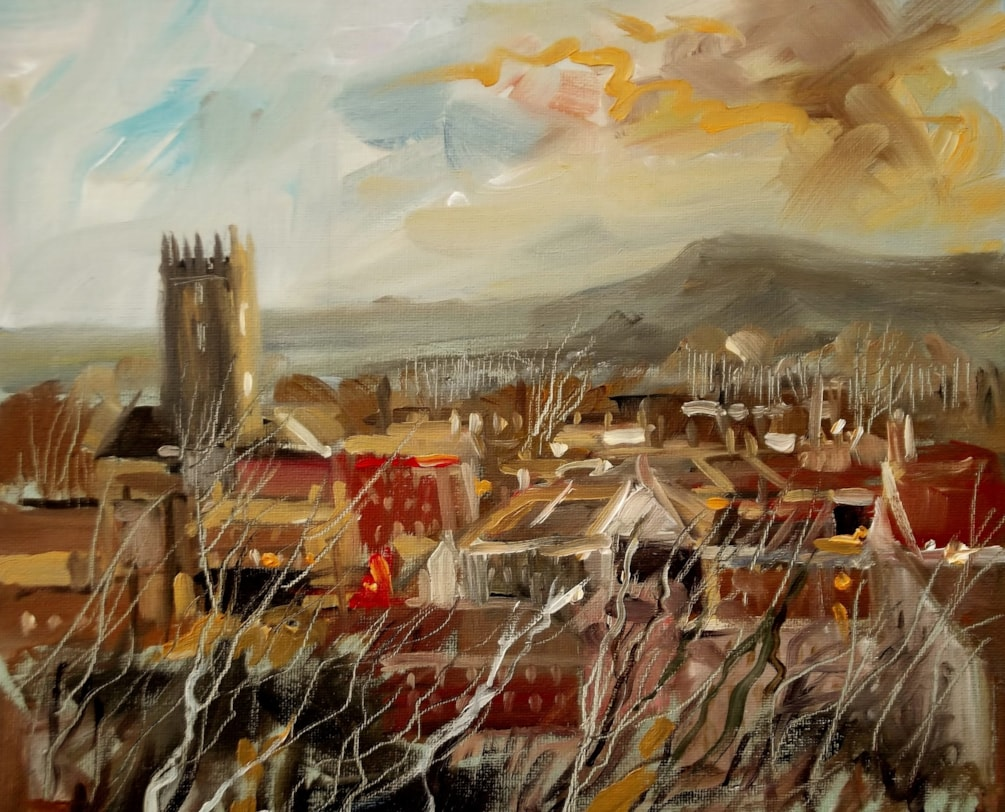 Ludlow with St Lawrence's Church.