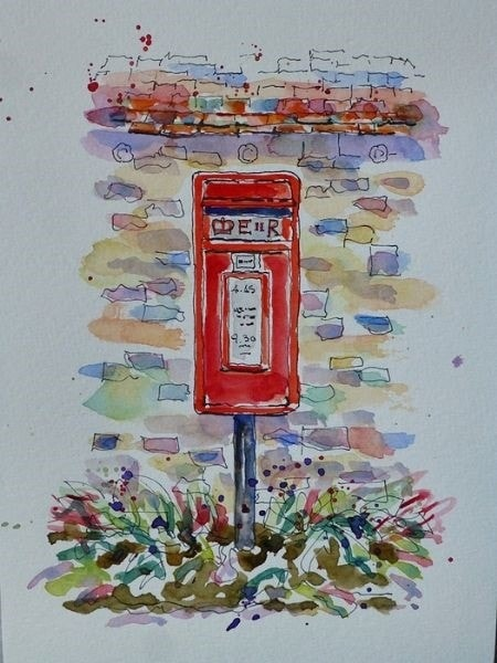 View From My Dog Walking - The New Post Box