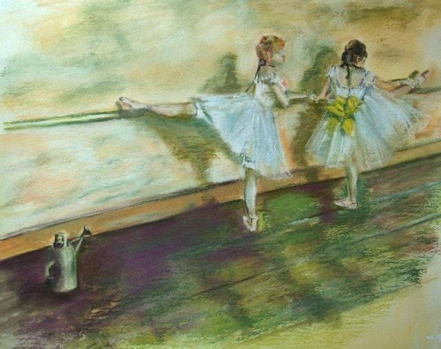 Impression of Degas - Practising at Bar